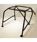 6-Point Bolt-on Roll Cage Black