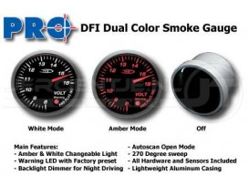 Dual color gauge Volt 52mm
