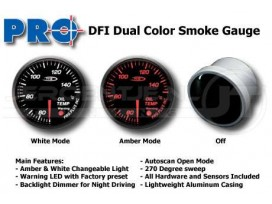 Dual color gauge Oil temp