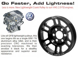 VW Golf/Passat / Audi A3/TT 2.0 FSI Light Crank Pulley [GFB]
