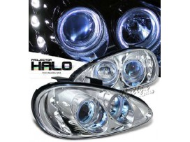MX-3 Projector Headlights + HALO Angeleyes Chrome