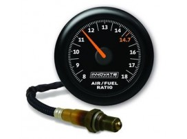 Innovate Analog MTX-AL Air/Fuel Ratio Gauge Kit, Black Dial