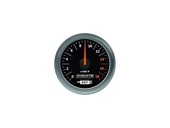 Innovate Analog MTX-A (EGT) Gauge Kit, Black Dial