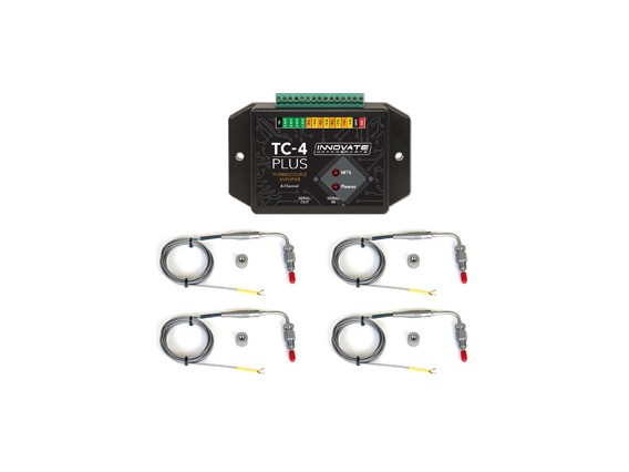 Innovate 4-Channel EGT Kit (TC-4 plus), 4 Type-K EGT Probes)