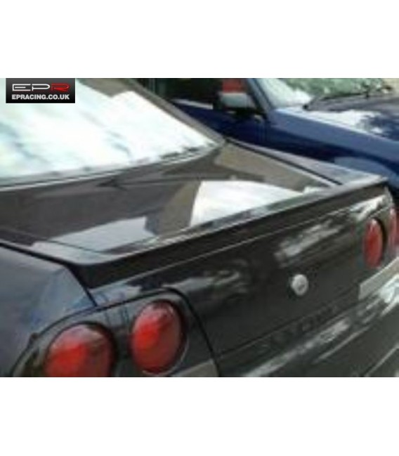 R33 carbon boot lip spoiler
