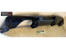 R34 carbon rear bumper addon