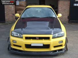R34 carbon vented hood